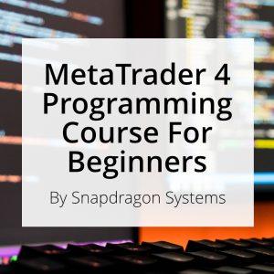 Beginner's MT4 programming course